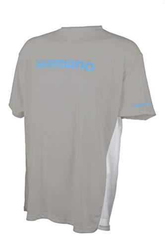 SHIMANO - Maglietta tecnica a maniche corte, attrezzatura da pesca, Uomo, N-5923 C, Medium