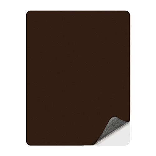 Numola Leather Repair Patch Kit, Self-Adhesive Sticker for Leather and Vinyl Repair, First Aid Kit for Furniture, Sofas, Couch, Car Seat, Belts, Handbags, Jackets - 8 × 11inch (Medium Brown)
