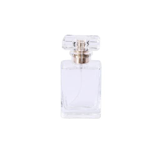 SHXJ Botella de Perfume Recargable de Vidrio Grueso Bomba Pulverizadora Envase de Botellas de Perfume,White30ml