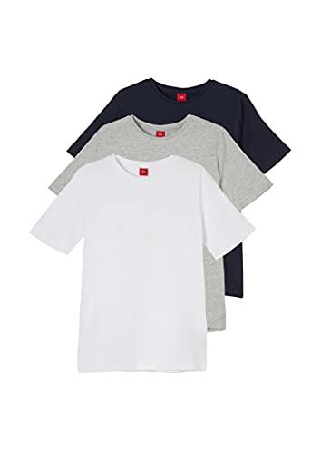 s.Oliver Junior 402.10.102.12.130.2064389 Camiseta, Multipack (00D5), Large para Niños