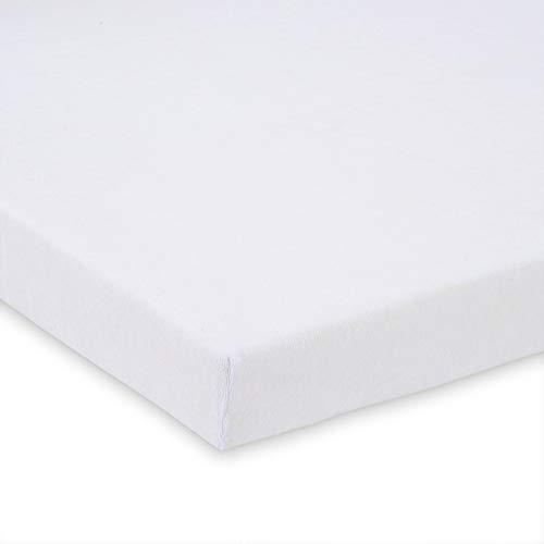 FabiMax 2450 Frottee Spannbettlaken für Beistellbett und Wiege, 90 x 40 cm, weiß