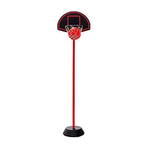 Canasta Baloncesto Aro De Baloncesto Portátil para El Hogar, Soporte De Baloncesto De Pie Ajustable, Utilizado para Juguetes para Niños Y Adolescentes De Interior Y Exterior (Size : 135-228cm)