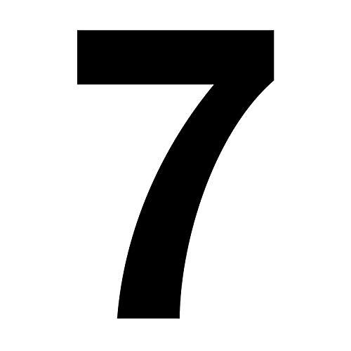 Zahlen-Aufkleber Nr. 7 in schwarz I Höhe 10 cm I selbstklebende Haus-Nummer, Ziffer zum Aufkleben für Außen, Briefkasten, Tür I wetterfest I kfz_673_7