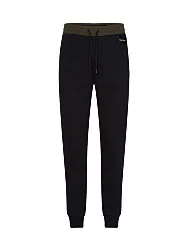 Calvin Klein K10K104511 MRZ Pantalón Hombre Negro/Verde Militar XS