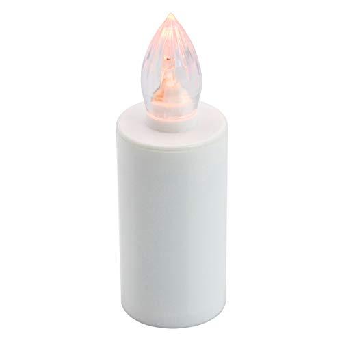 xunniu Le Candele LED Senza Fiamma Sono Realistiche E Resistenti Alle Intemperie, Adatte Per Uso Interno Ed Esterno Nei Cimiteri Delle Chiese Per 365 Giorni (Bianco)