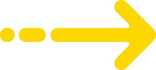 Adesivi covid 19 freccia direzione da seguire PVC adesivo economico 5 pz - 22 x 50 marker cm (giallo)