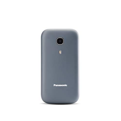 Panasonic KX-TU400EXG Seniorenhandy zum Aufklappen ohne Vertrag (SOS-Notruftaste, Taschenlampenfunktion, große getrennte Tasten, große Schrift und Nummernanzeige) grau