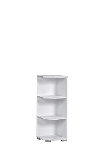 MAJA Möbel System Abschlussregal, Holzwerkstoff melaminharzbeschichtet, ICY-weiß, One Size