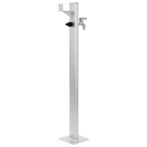 Festnight Columna de Agua para Jardín de Aluminio Agua Distribuidor 7 x 3 x 95 cm Plateado