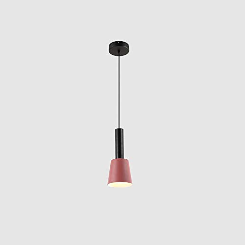 Towyoy New Nordic Style Creative Bedside Iron Chandelier Modern Minimalist Bedroom Porch Single Head Restaurant Bar Coffee Shop Bar Bedroom Study Light Luxury Chandelier Interior Decoration Lighting