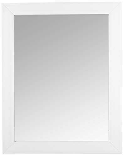 Home Basics Contemporary Rectangle Wall Mirror, Hangs Vertical Or Horizontal, -