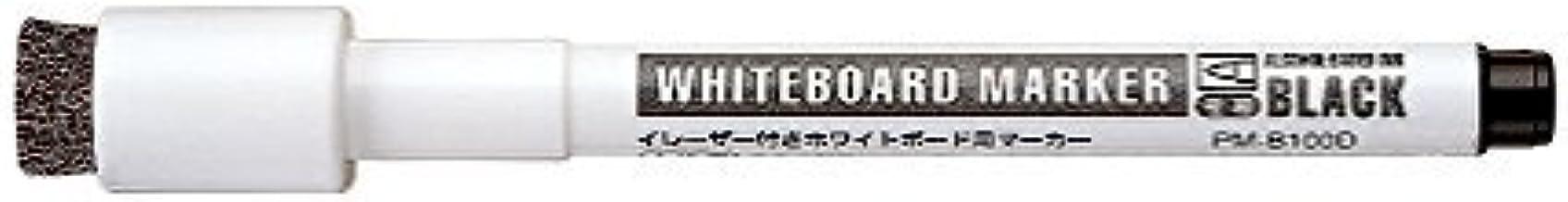 コクヨ ホワイトボード用マーカー イレーザーマグネット付き 極細 黒 PM-B100D 3個セット