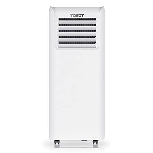TOSOT 8,000 BTU Portable Air Conditioner, Easier to Install, Quiet and 3-in-1 Portable AC, Dehumidifier, Fan for Rooms Up To 250 sq ft, Aovia Series