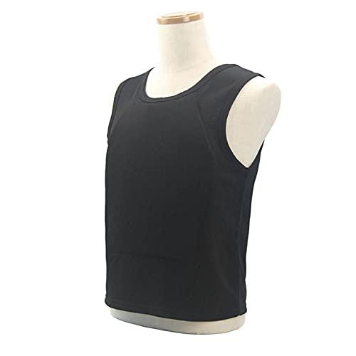 AJDGL Chaleco Ejecutivo Discreto Chaleco antibalas Nivel IIIA - Oculto Oculto en el Interior Use una Camiseta Suave antibalas para protección de Seguridad Personal,Negro,L
