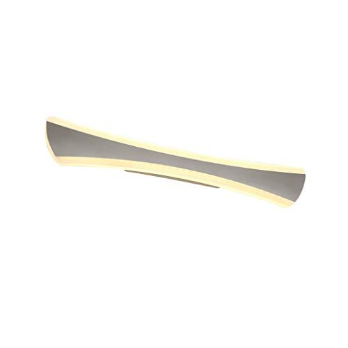 Wandlamp voor badkamer met LED-verlichting, waterdicht, wandlamp voor badkamer moderne Pavo voor kaptafel hoek (kleur: warm wit)
