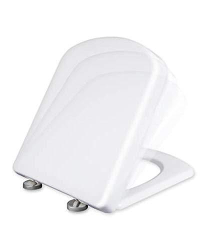 Tapa y asiento de inodoro con caida amortiguada - Compatible con Dama Senso y Compac Roca