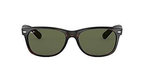 Ray-Ban RB2132 New Wayfarer Sunglasses, Tortoise/Green