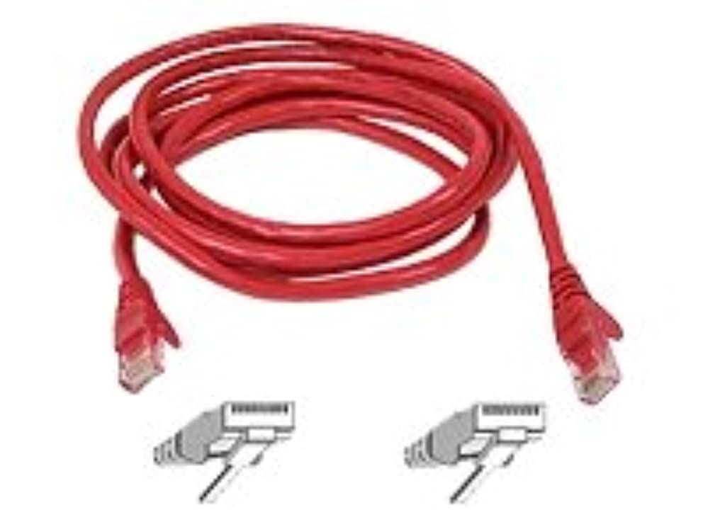 Belkin Fast CAT5E Red UTP Patch Cord Snagless - 10ft