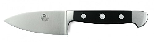 Güde Käsemesser für harten Käse ALPHA Serie Klingenlänge: 10 cm POM schwarz, 1805/10, Messer - Solingen - Deutsche Qualität,  robust - scharf - geschmiedet - hochwertig