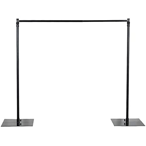 Efavormart 10ft x 10ft Heavy Duty Pipe and Drape Kit Backdrop Support with Metal Steel Base for Wedding, Party, Event, Photography, and Exhibition Decoration