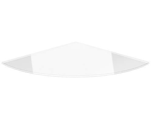 Viertelkreis 110x110cm - Funkenschutzplatte Klarglas Kaminbodenplatte Glasplatte Kaminofenunterlage Ofenplatte (Viertelkreis 110x110cm mit Silikon-Dichtung)