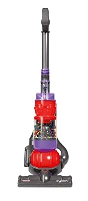 Dyson Toy Vacuum with Real Suction, Cyclone Action and Sounds - Red/Purple by Casdon Toys