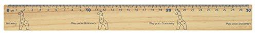 ナカノ プレイポコ 木製定規 30cm キリン PP-46R/GF