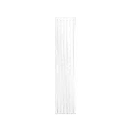 ECD Germany Radiador toallero para baño - 370 x 1800 mm - Blanco - Plano - Diseño vertical - Toallero de agua - Radiador de...