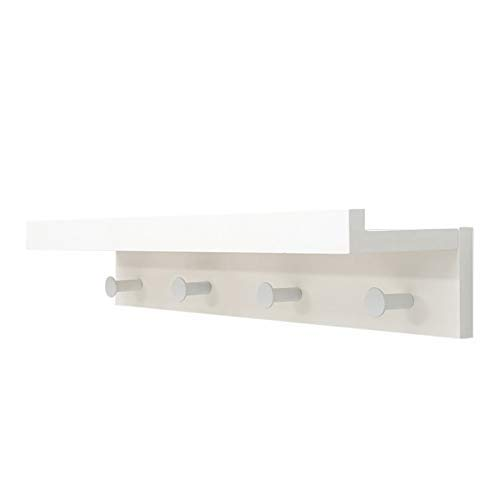 Margueras - 1 estante toallero perchero de pared (bambú con...