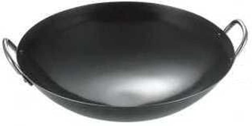 予備ショート枕若林工業 鉄製 両手中華鍋 (板厚1.2mm) 36cm