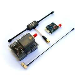 Long Range UHF 1W 100MW 433MHz TX+RX Transmitter +Receiver Kit JR Module Compatible with X9D/X12S/ X7/THX9/9XR - (Color: White)