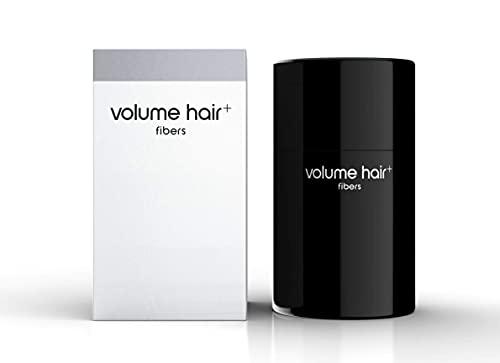 volume hair, Fibers zur Haarverdichtung für Frauen Männer 12g Streuhaar Schütthaar Haarfaser für tollen Echthaar Haareffekt Puder Applikator, Schwarz