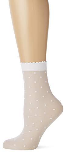 FALKE Damen Söckchen Dot 15 Denier - Transparente, Matt, 1 Paar, Weiß (White 2209), Größe: 35-38