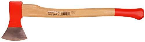 Connex Axt 1000 g - Robuster Stiel aus Eschenholz - Ideale Kraftübertragung - Kopf 3-fach verkeilt - Zur Bearbeitung von Holz / Universalaxt mit Schneidschutz / Spaltaxt / Fällaxt / COX840100