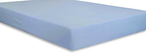 Utopia Bedding Cotton sateen Fitted Sheet (Queen, Blue) – Premium...