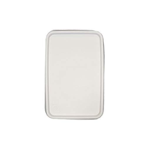 IMBALLAGGI ALIMENTARI Tapa cubeta ecológica de color crema, 1000 cc, para 50 unidades