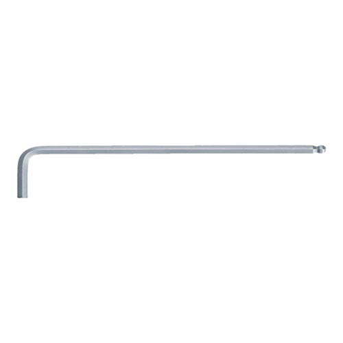 KS Tools 151.3107 Kugelkopf-Innensechskant-Winkelstiftschlüssel, XL, 7mm, farblos