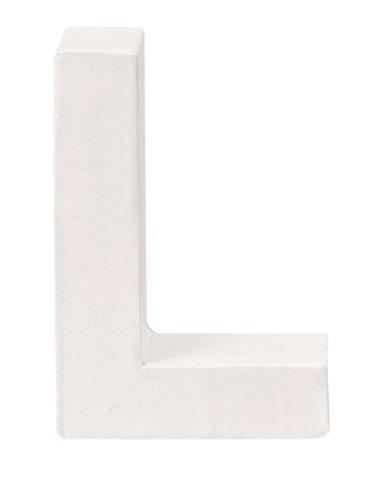 GLOREX Papp-Buchstabe L, weiß, 10  x  7  x  3,5 cm