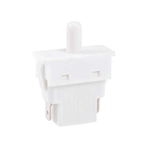 sourcing map Interruptor de luz de puerta del frigorífico nevera Interruptor momentáneo NC AC 250V 0.25A