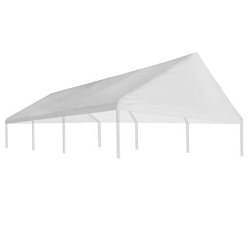 Festnight Carpa Impermeables Resistente a los Rayos UV al Aire Libre 4 x 6 m Carpa de Jardín Tienda de Campaña Blanco