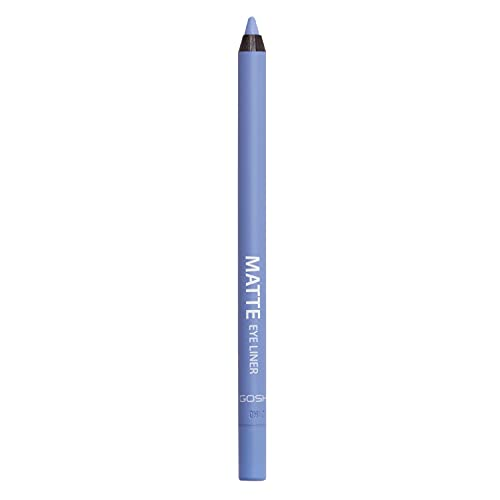 GOSH Matte Eyeliner in strahlendem Hellblau I cremig weiche Textur für einfaches Auftragen | hohe Deckkraft, ideal für Smokey Eyes | perfekt zu Maskara | vegan & parfümfrei | 006 Ocean Mist