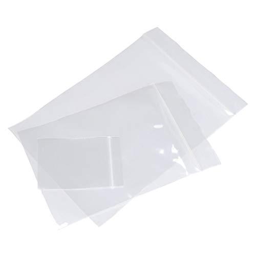 QLOUNI 300pcs Bolsas Empaquetado Plastico Polietileno Cremallera