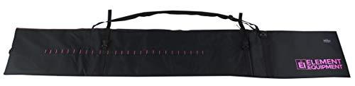 Element Equipment Skitasche, gepolstert, verstellbar, für Reisen, Skitasche, Schwarz/Pink