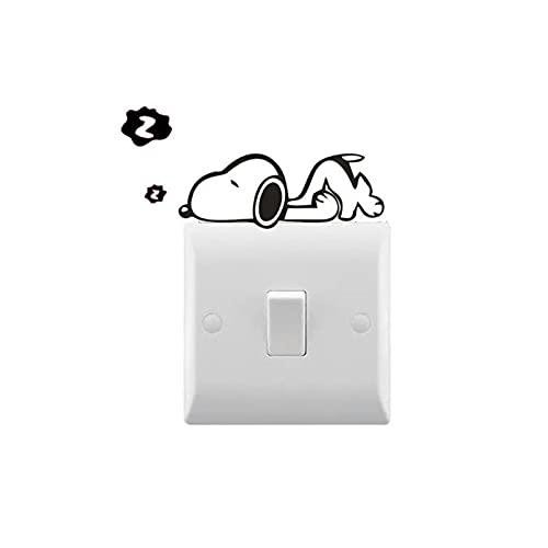 Calcomanías de vinilo, calcomanías de interruptor de luz decorativas para el hogar, impermeables, desmontables, 4X8cm