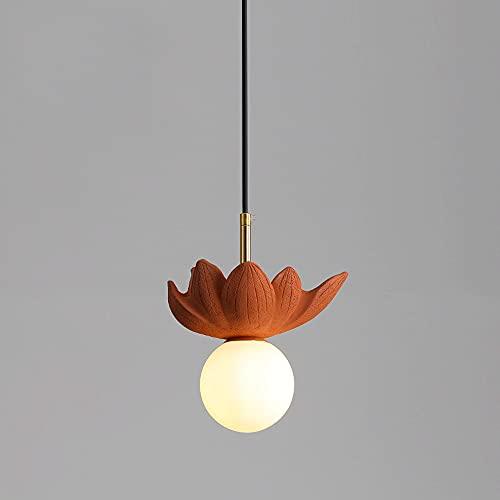 NAMFXH Personalidad creativa lámpara colgante arte nórdico suspensión luz resina pequeña lámpara colgante G9 fuente de luz colgante lámpara de techo comedor salón leche té iluminación droplight