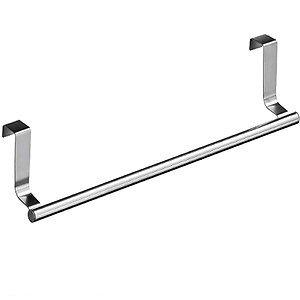 Brand New Heavy Duty 36cm Stainless Steel Over Cupboard Door Kitchen Tea Towel Rail Drawer Holder by OnlineDiscountStore