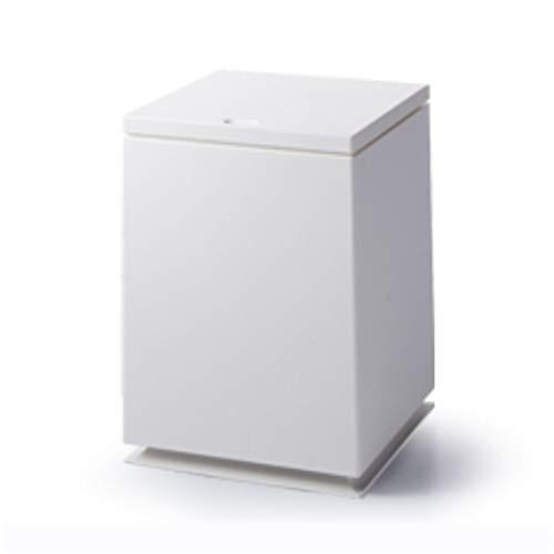 YQJ Papelera de baño 12L, Papelera con Tapa para hogar y Cocina, Papeleras de plástico rectangulares de plástico con Barril Interior para Oficina-White