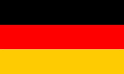KiipFlag Deutschland Flagge Deutsche Fahne Deutschlandfahne Flaggen Fahnen, Stoff von guter Qualität mit 2 Messing-Ösen, 90 x 150 cm