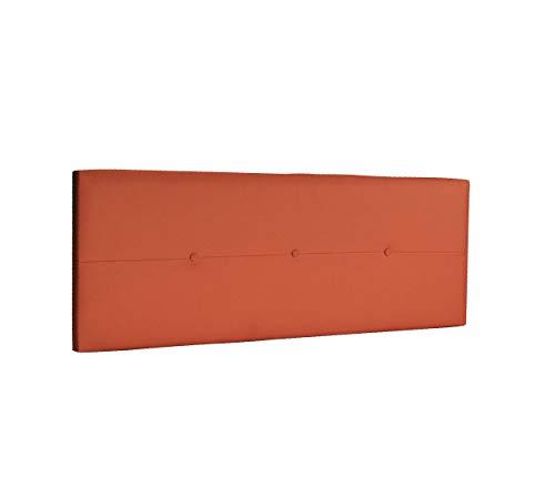 DHOME Cabecero de Polipiel o Tela AQUALINE Pro cabeceros Cabezal tapizado Cama Lujo (Polipiel Naranja, 145cm (Camas 120/135/140))