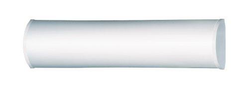 Steinel Sensor Bad-Leuchte BRS 65 L weiß, unsichtbarer Bewegungsmelder, Spiegelleuchte, 2x40W, Opalglas, Aluminium